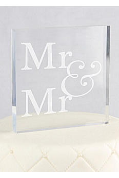 Mr and Mr Square Acrylic Cake Topper X15020/A