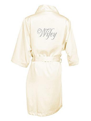 Glam Script Rhinestone Wifey Satin Robe GLAMWFYROBE