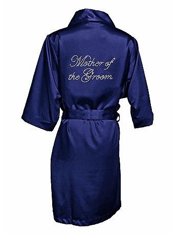 Rhinestone Mother of the Groom Satin Robe MOGROBE