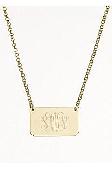 Personalized Rectangle Tag Necklace N648