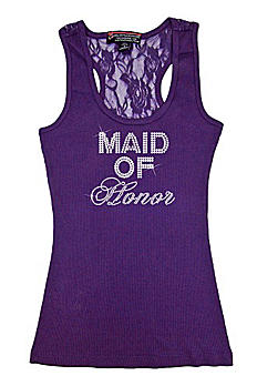 Maid of Honor Big Bling Lace Tank BIGBLINGLACEMOH