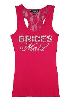 Bridesmaid Big Bling Lace Tank