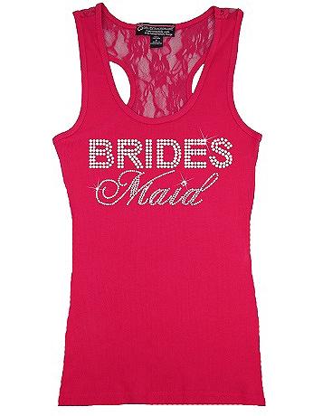 Bridesmaid Big Bling Lace Tank BIGBLINGLACEBM