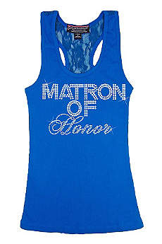 Matron of Honor Big Bling Lace Tank