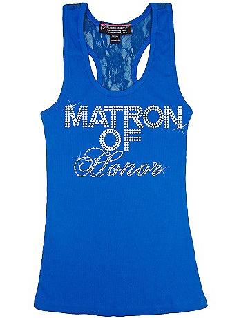 Matron of Honor Big Bling Lace Tank BIGBLINGLACEMAT