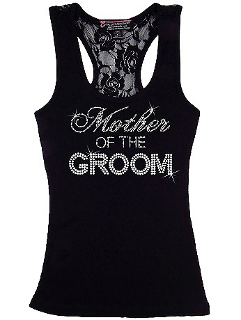 Mother of the Groom Big Bling Lace Tank BIGBLINGLACEMOG