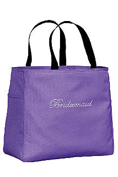 Rhinestone Bridesmaid Tote Bag