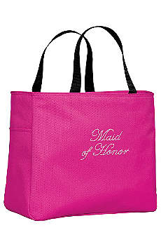 Rhinestone Maid of Honor Tote Bag