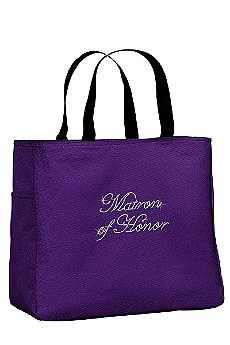 Rhinestone Matron of Honor Tote Bag