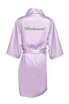 Embroidered Bridesmaid Satin Robe EMRB-BM
