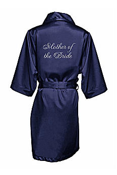 Embroidered Mother of the Bride Satin Robe EMRB-MOB