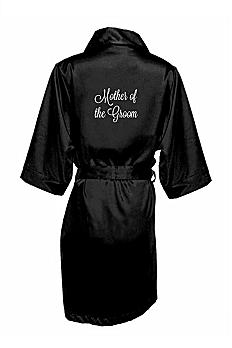 Embroidered Mother of the Groom Satin Robe EMRB-MOG