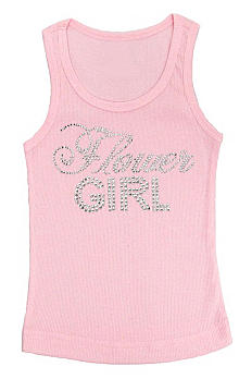 Big Bling Flower Girl Tank Top BBFGTNK