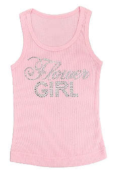 Big Bling Flower Girl Tank Top