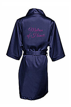 Glitter Matron of Honor Satin Robe GLTRB-MAT