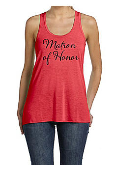 Matron of Honor Flowy Racerback Tank Top DBK8800MTH