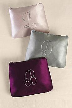 Personalized Rhinestone Initial Cosmetic Bag A91772