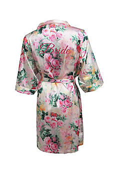 DB Exc Pastel Floral Robe with Pink Glitter Bride DANIROBEBRIDE
