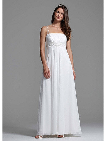 Spaghetti Strap Chiffon A-Line with Front Draping BR1007