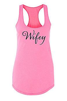 Wifey Racerback Tank Top DBK-ALA-WIFEY