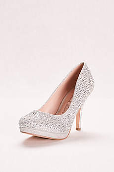 blossom grey closed toe shoes allover crystal pump