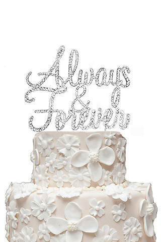 Wedding cake toppers davids bridal rhinestone always and forever cake topper junglespirit Gallery