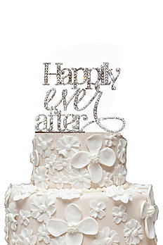 Rhinestone Happily Ever After Cake Topper CT-HEA