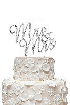 Rhinestone Mr and Mrs Cake Topper CT-MRMRS