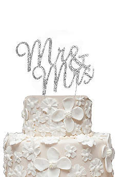Rhinestone Mr and Mrs Cake Topper