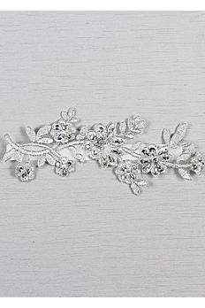 Metallic Applique Garter with Silver Detail GTR91710