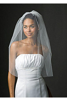 Bridal One Tier Blusher Veil 384