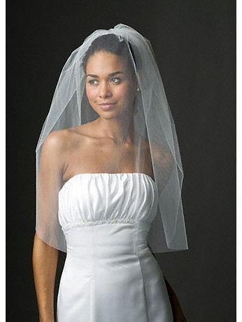 Bridal One Tier Blusher Veil 384
