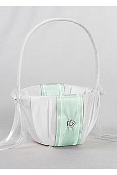 DB Exclusive Monogram Flower Girl Basket 10-7095