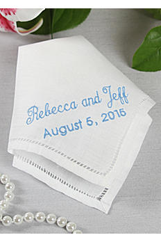 Exclusive Personalized Handkerchief Names and Date DB16BP