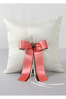 DB Exclusive Double Ribbon Ring Pillow DB45RP/W