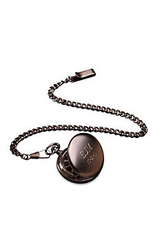 Personalized Gunmetal Pocket Watch GC775