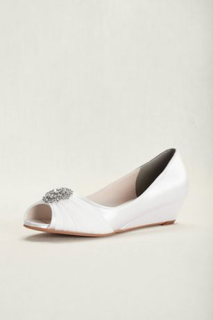 Touch Ups Patience Dyeable Wedge Pump Davids Bridal