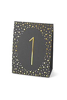 Polka Dot Table Number Tents 1-40 Set PolkaDotTableNo