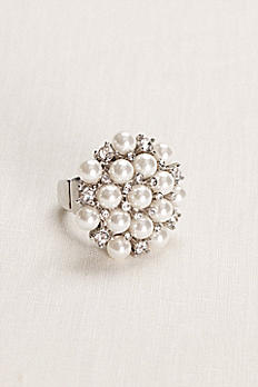 Pearl and Crystal Cluster Ring R15120807A