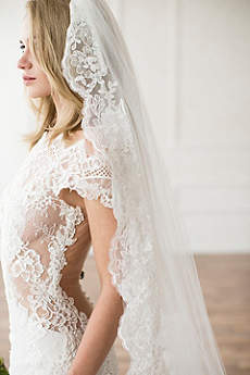 Hand-Sewn Lace Cathedral Veil