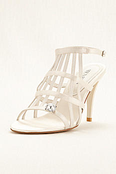 Bridal Caged Sandal With Rhinestone by Menbur REA