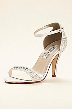 Dyeable Crystal Embellished Sandal by Touch Ups Rena