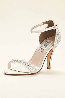Touch Ups White Sandals (Dyeable Crystal Embellished Sandal by Touch Ups)