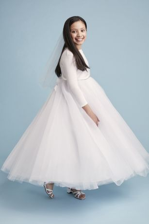 Ball Gown Flower Girl Dress With Heart Cutout David S Bridal