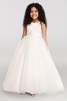 Ball Gown Flower Girl Dress with Heart Cutout RK1368