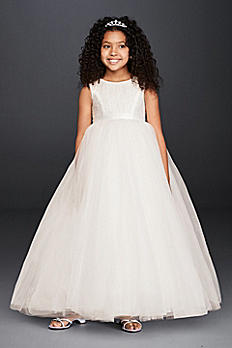 Ball Gown Flower Girl Dress with Heart Cutout RK1368