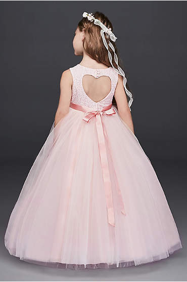 Ball Gown Flower Girl Dress with Heart Cutout