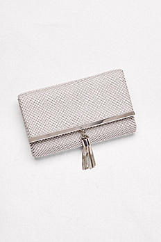 Tassled Metal Mesh Clutch RL50130
