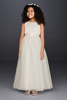 Long Ballgown Tank Communion Dress -