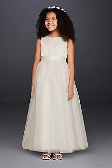 Long Ballgown Tank Communion Dress - David's Bridal